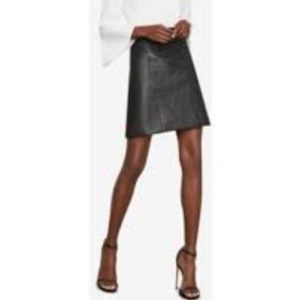 BCBGMaxAzria Genuine Leather A line Skirt
